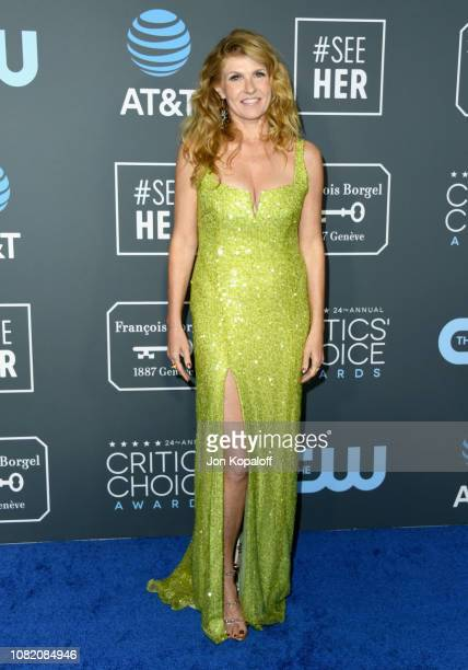 Connie Britton attends the 24th annual Critics' Choice Awards at Barker Hangar on January 13 2019 in Santa Monica California