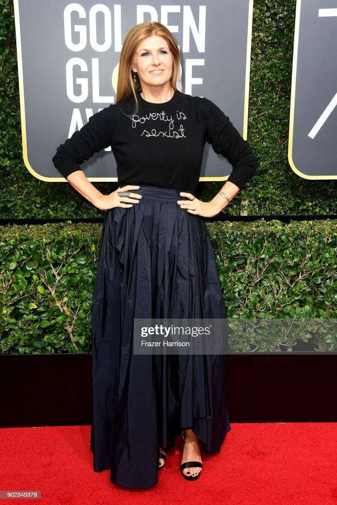 Connie Britton attends The 75th Annual Golden Globe Awards at The Beverly Hilton Hotel on January 7, 2018 in Beverly Hills, California.