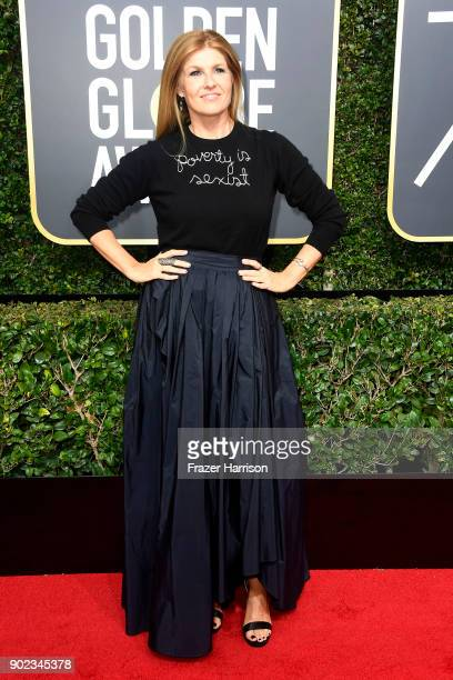 Connie Britton attends The 75th Annual Golden Globe Awards at The Beverly Hilton Hotel on January 7 2018 in Beverly Hills California
