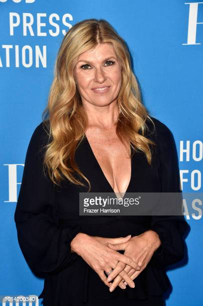 Connie Britton attends the Hollywood Foreign Press Association's Grants Banquet at The Beverly Hilton Hotel on August 9, 2018 in Beverly Hills,...