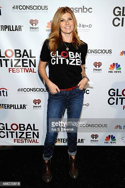 Connie Britton attends VIP Lounge at the 2014 Global Citizen Festival to end extreme poverty by 2030 in Central Park on September 27 2014 in New York...