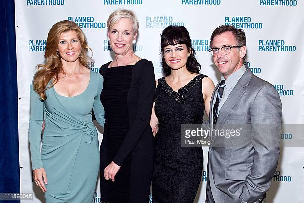 Connie Britton Cecile Richards Carla Gugino and David Eigenberg attend the Planned Parenthood National Awards Gala at Omni Shoreham Hotel on April 7...