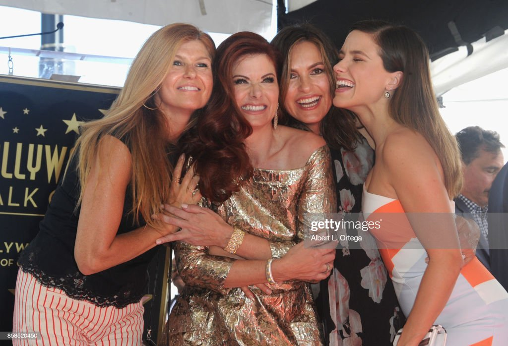 Connie Britton, Debra Messing, Mariska Hargitay and Sophia Bush attend Debra Messing Star Ceremony on The Hollywood Walk Of Fame held on October 6, 2017 in Hollywood, California.