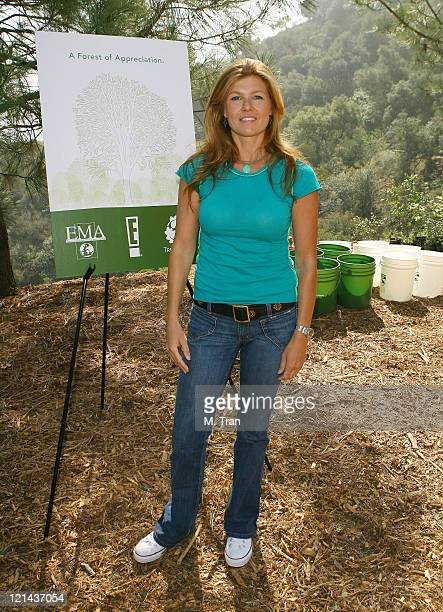 Connie Britton during EMA and E Entertainment Television Tree Planting Event April 4 2007 at Tree People's Headquarters in Coldwater Canyon Park in...