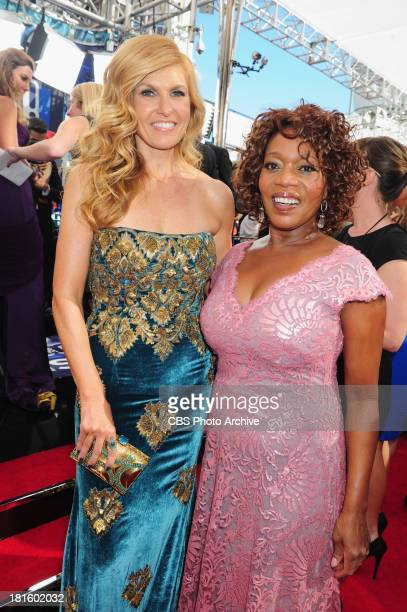 Connie Britton from Nashville and Alfre Woodard from Copper on the red carpet for the 65th Primetime Emmy Awards which will be broadcast live across...