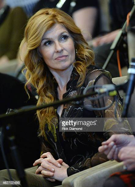 Connie Britton from the Cast Of ABC's Nashville Answer Questions From Fans During A SiriusXM Town Hall Special at Oceanways Studio on January 14 2014...