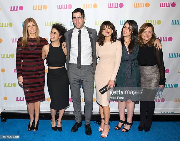 Connie Britton Ilana Glazer Zachary Quinto Carla Gugino Abbi Jacobson and Amy Poehler attend the 2015 Worldwide Orphan Gala at Cipriani Wall Street...