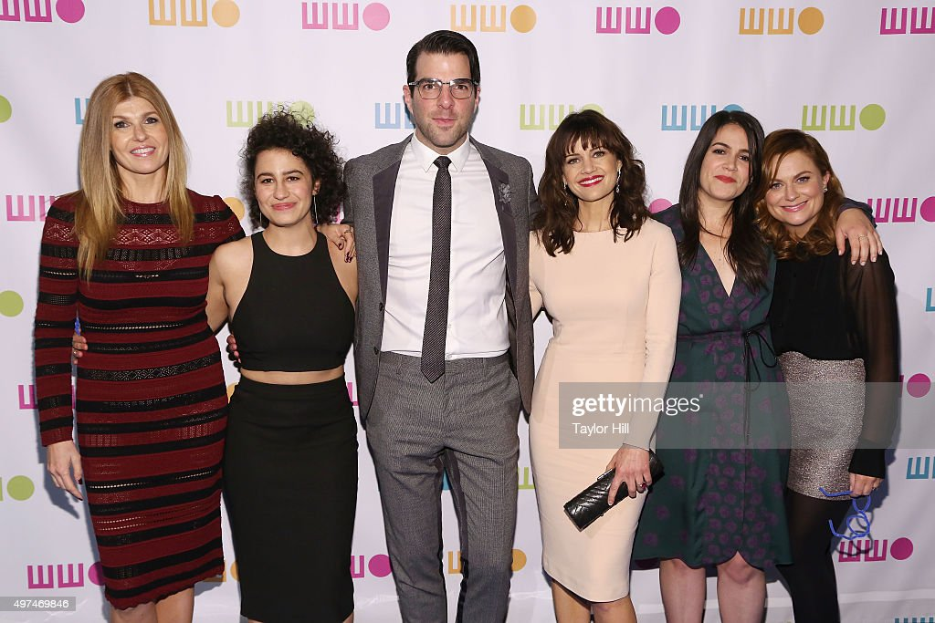 Connie Britton, Ilana Glazer, Zachary Quinto, Carla Gugino, Abbi Jacobson, and Amy Poehler attend Worldwide Orphans 11th Annual Gala at Cipriani on November 16, 2015 in New York City.