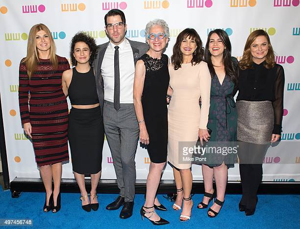 Connie Britton Ilana Glazer Zachary Quinto Dr Jane Aronson Carla Gugino Abbi Jacobson and Amy Poehler attend the 2015 Worldwide Orphan Gala at...