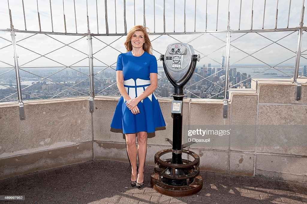 Connie Britton lights The Empire State Building to celebrate the 2015 Global Citizen Festival on September 25, 2015 in New York City.