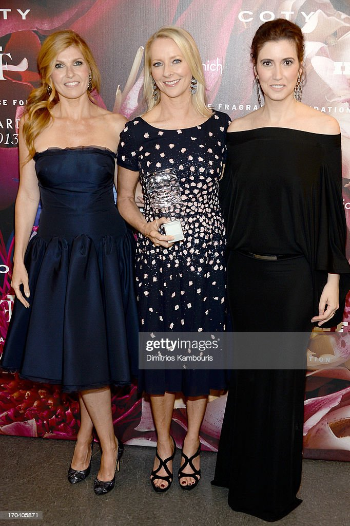 Connie Britton, Linda Wells, and Elizabeth Musmanno attend the 2013 Fragrance Foundation Awards at Alice Tully Hall at Lincoln Center on June 12, 2013 in New York City.