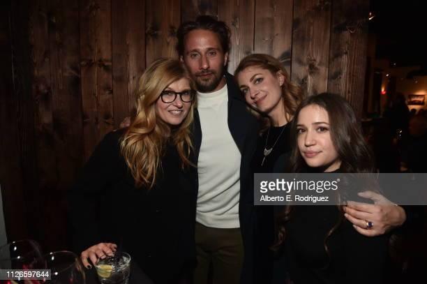 Connie Britton Matthias Schoenaerts Director Laure de ClermontTonnerre and Gideon Adlon attend the The Mustang Premiere during the 2019 Sundance Film...