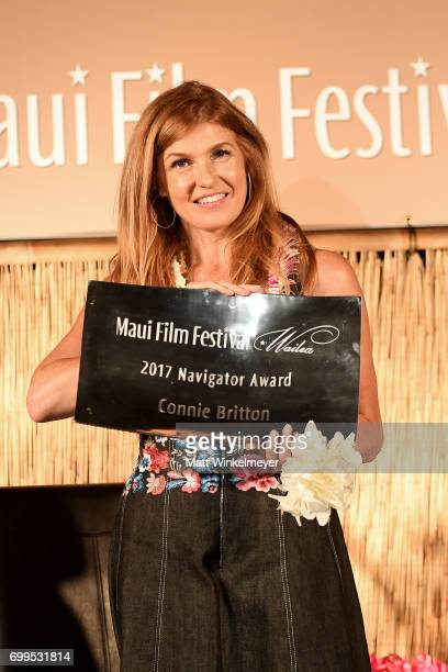 Connie Britton receives the Navigator Award at the 'Celestial Cinema' during day one of the 2017 Maui Film Festival At Wailea on June 21 2017 in...