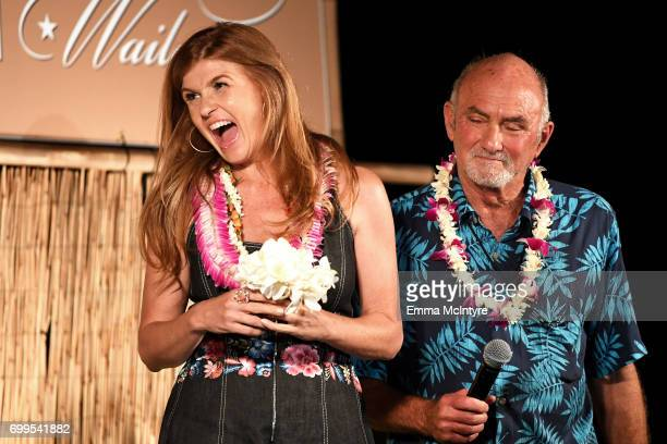Connie Britton recipient of the Navigator Award speaks at the 'Celestial Cinema' during day one of the 2017 Maui Film Festival At Wailea on June 21...