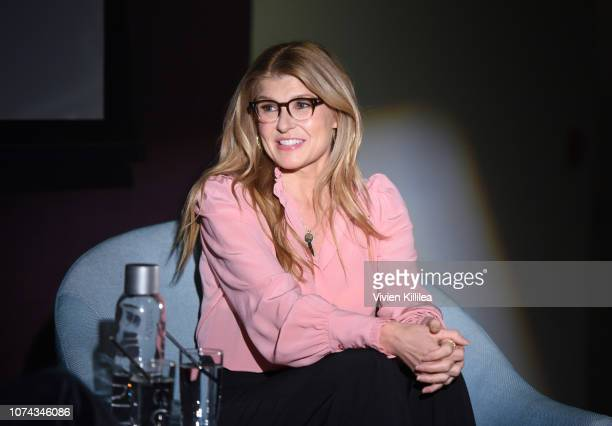 Connie Britton speaks at Tribeca Talks The Journey Inspired By TUMI With Nicole Holofcener And Connie Britton at Andaz West Hollywood on December 17...