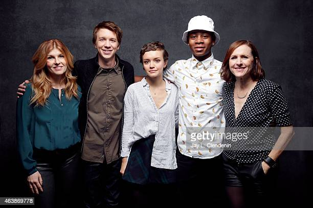 Connie Britton Thomas Mann Olivia Cooke RJ Cyler and Molly Shannon from 'Me and Earl and the Dying Girl' pose for a portrait for the Los Angeles...