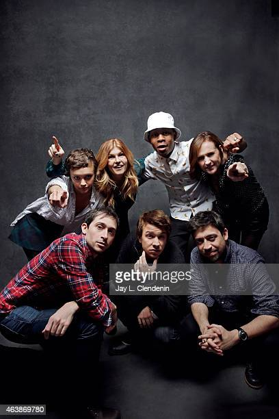Connie Britton Thomas Mann Olivia Cooke RJ Cyler Molly Shannon Alfonso Gomez Rejon and Edgar Wright from 'Me and Earl and the Dying Girl' pose for a...