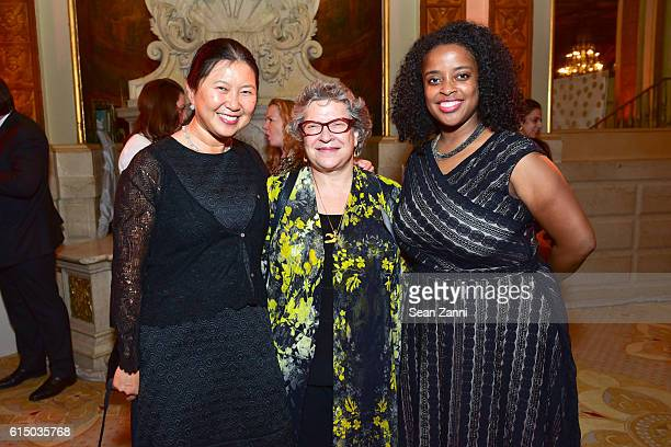 Connie Chen Kathryn Weill and Camille Emeagwali attend The New York Women's Foundation's 2016 Fall Gala at The Plaza on October 13 2016 in New York...