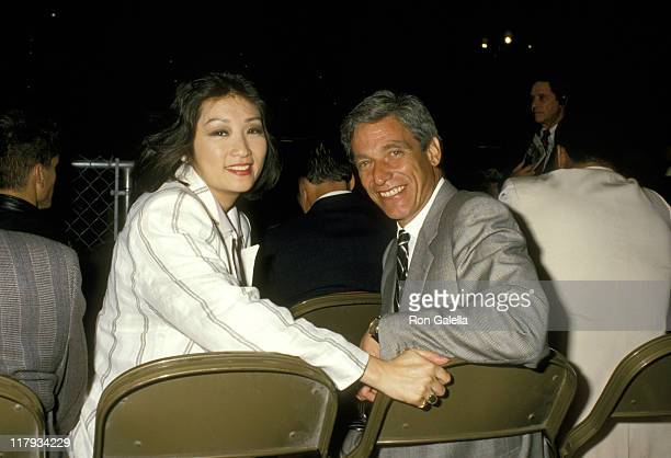 Connie Chung and Maury Povich during Mike Tyson vs Michael Spinks Fight at Trump Plaza June 27 1988 at Trump Plaza in Atlantic City New Jersey United...