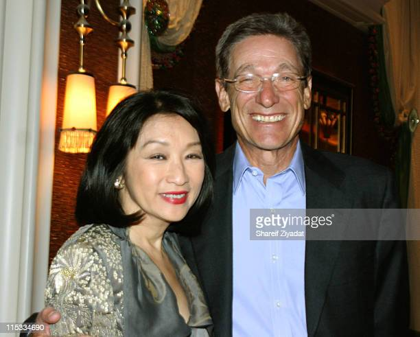 Connie Chung and Maury Povich during Wynn Hotel Grand Opening April 28 2005 at Wynn Hotel in Las Vegas Nevada United States