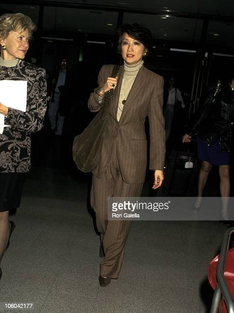 Connie Chung during Connie Chung at Los Angeles International Airport January 16 1997 at Los Angeles International Airport in Los Angeles California...