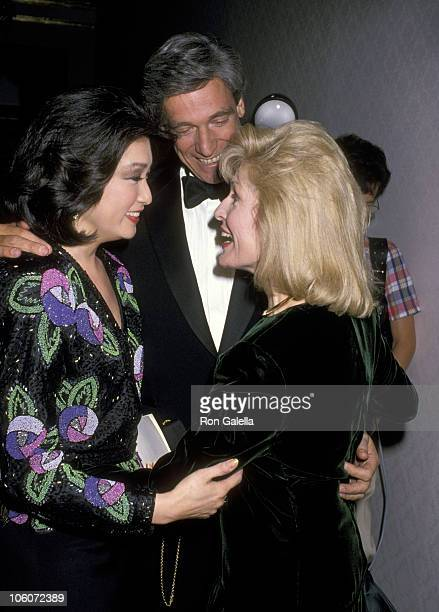 Connie Chung Maury Povich and Pat Collins during NATAS Emmy Recognition Awards at Plaza Hotel in New York City New York United States