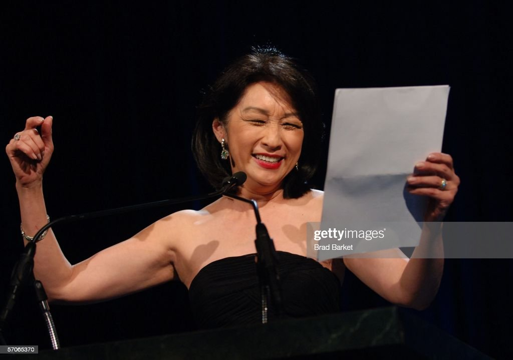 Connie Chung speaks at the 2006 New York Emmy Awards at the the Marriott Marquis on March 12, 2006 in New York City.