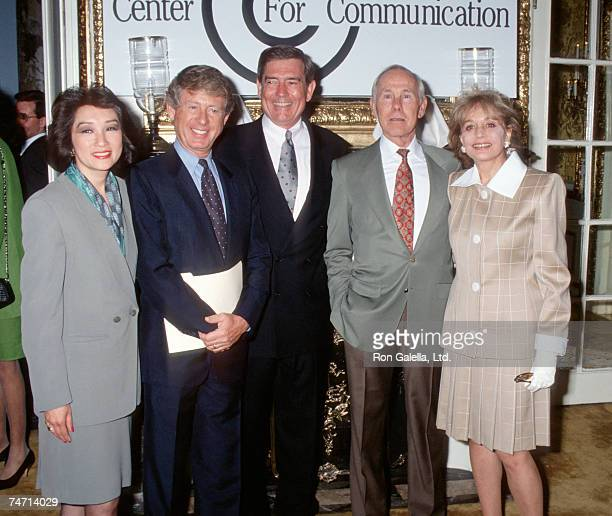 Connie Chung Ted Koppel Mike Wallace Johnny Carson and Barbara Walters at the The Plaza Hotel in New York City New York