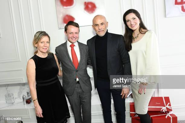 Connie Farinola Roric Tobin Clifford Minkoff and Julia Foster attend Roric Tobin's Holiday Dining Room For Luxury Living at Luxury Living Showroom on...