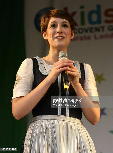 Connie Fisher as Maria Von Trapp from The Sound of Music on stage at the annual Kids Week in the West End which is celebrating London's Theatreland...