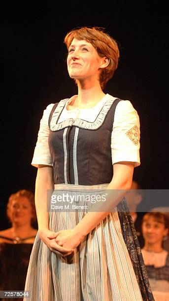 Connie Fisher performs on stage at the press night of 'The Sound Of Music' at the Palladium on November 15 2006 in London England