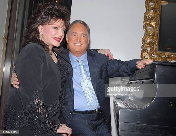 """Connie Francis and Neil Sedaka backstage prior to the show """" Neil Sedake Celebrates Fifty Years of Hits"""" at Lincoln's Center Avery Fischer Hall on..."""