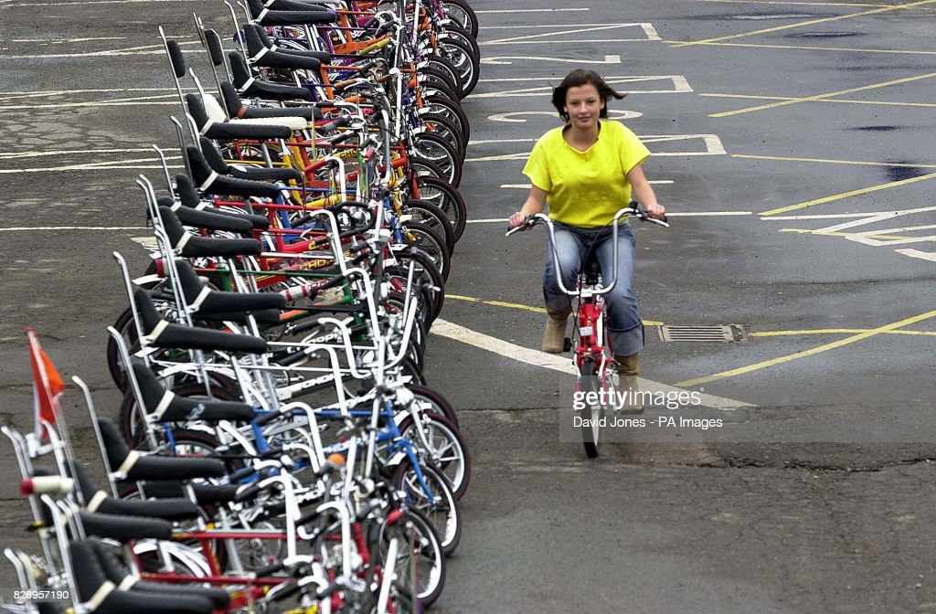 Connie Francis, from Cannock, on her Mk 3 Raleigh Chopper rides down