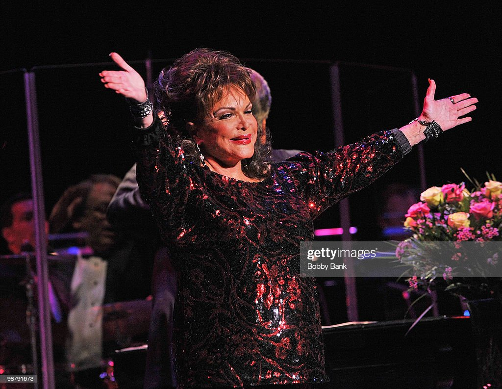 Connie Francis performs at the Bergen Performing Arts Center on May 1, 2010 in Englewood, New Jersey.