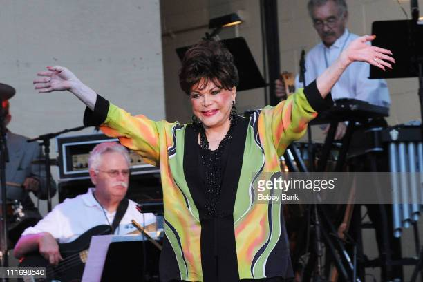 Connie Francis performs during the 31st Annual Seaside Summer Concert Series at Asser Levy Park Coney Island on July 30 2009 in New York City