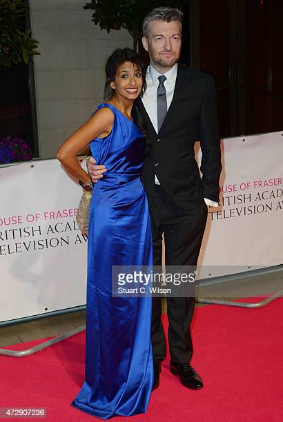Connie Huq and Charlie Brooker attend the After Party dinner for the House of Fraser British Academy Television Awards at The Grosvenor House Hotel...