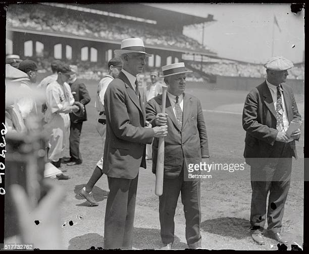 Connie Mack and John McGraw choosing for first up in the All Stars Game at Comisky Park in Chicago
