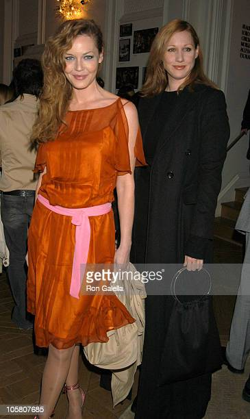 Connie Nielsen and Amy Sacco during Hollywood Life The Glamorous Homes of Vintage Hollywood Book Release Party at Bergdorf Goodman in New York City...