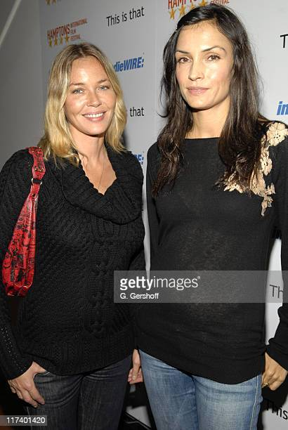 Connie Nielsen and Famke Janssen during 14th Annual Hamptons International Film Festival Industry Toast to Ted Hope at East Hampton Point in East...