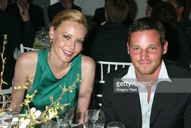 Connie Nielsen and Justin Chambers during The International Center of Photography's 21st Annual Infinity Awards Inside at Skylight Studios in New...