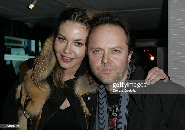 Connie Nielsen and Lars Ulrich during Gran Centenario Tequila Celebrates the Premiere of The Darwin Awards at the 2006 Sundance Film Festival at the...