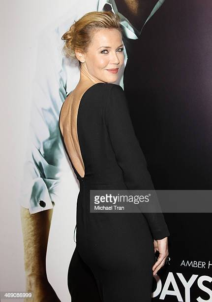 Connie Nielsen arrives at the Los Angeles premiere of '3 Days To Kill' held at ArcLight Cinemas on February 12 2014 in Hollywood California