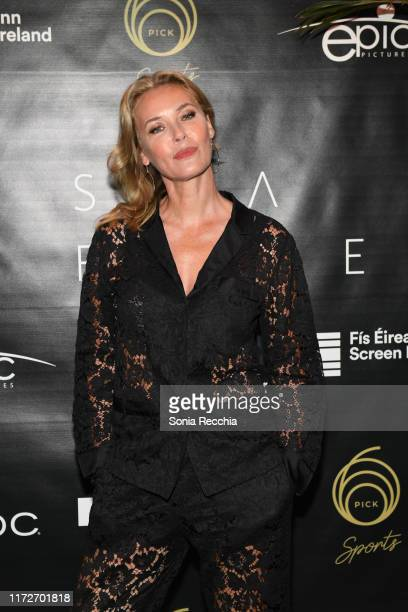 Connie Nielsen attends prescreening cocktail reception for the world premiere film Sea Fever at Pick 6ix Sports on September 05 2019 in Toronto Canada