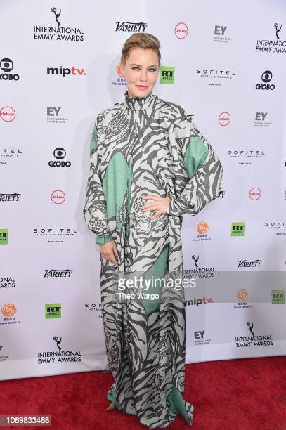 Connie Nielsen attends the 46th Annual International Emmy Awards - Arrivals at New York Hilton on November 19, 2018 in New York City.