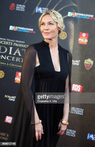 Connie Nielsen attends the 'Il Gladiatore In Concerto' charity night at Colosseum on June 6 2018 in Rome Italy