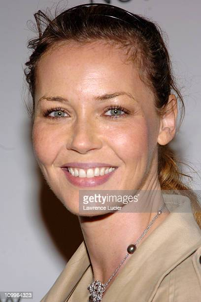 Connie Nielsen during 2004 Audi Never Follow Gala Arrivals at Manhattan Center in New York City New York United States