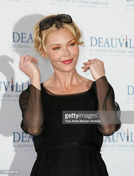 Connie Nielsen during 31st American Film Festival of Deauville The Ice Harvest Photocall at CID in Deauville France