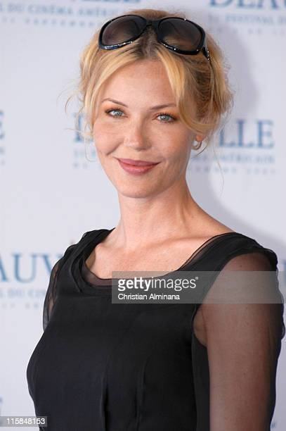 """Connie Nielsen during 31st American Film Festival of Deauville - """"The Ice Harvest"""" Photocall at CID in Deauville, France."""