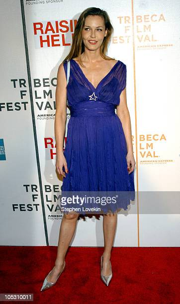 Connie Nielsen during 3rd Annual Tribeca Film Festival Raising Helen Premiere at Tribeca Performing Arts Center in New York City New York United...