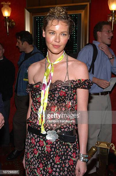 Connie Nielsen during 'Matrix Reloaded' New York Premiere Inside Arrivals at Ziegfeld Theater in New York City New York United States